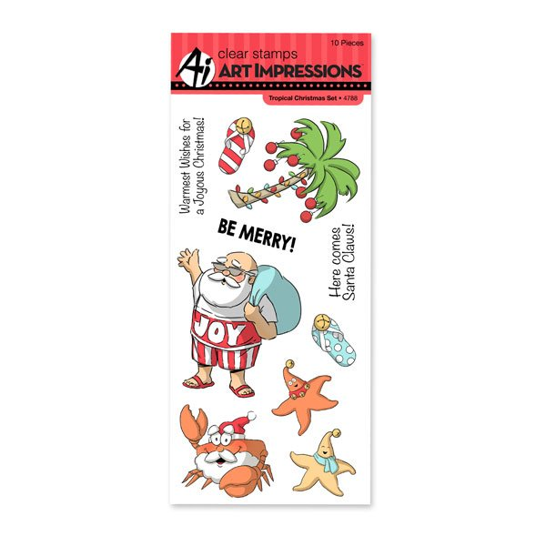 Art Impressions Tropical Christmas Clear stamp set