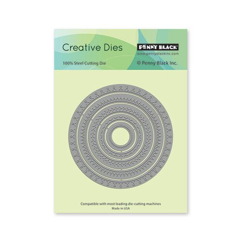 Penny Black Creative Dies Stitched Cirlcles