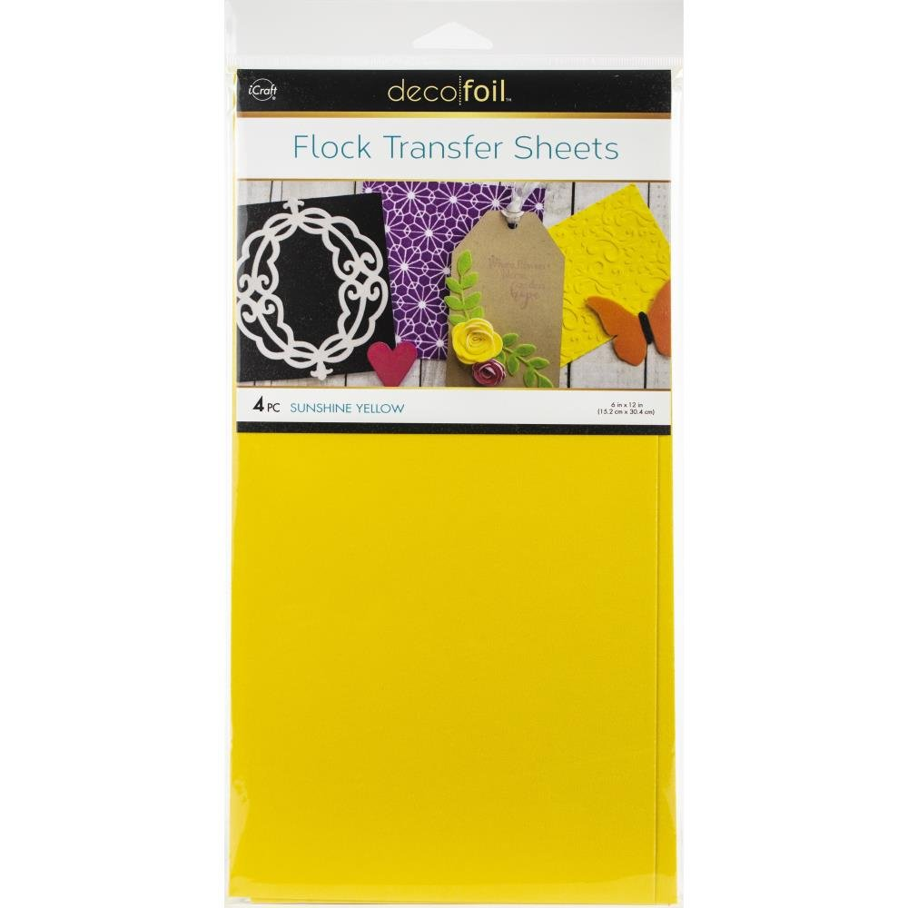 ICraft DecoFoil Flock Transfer Sheets Sunshine