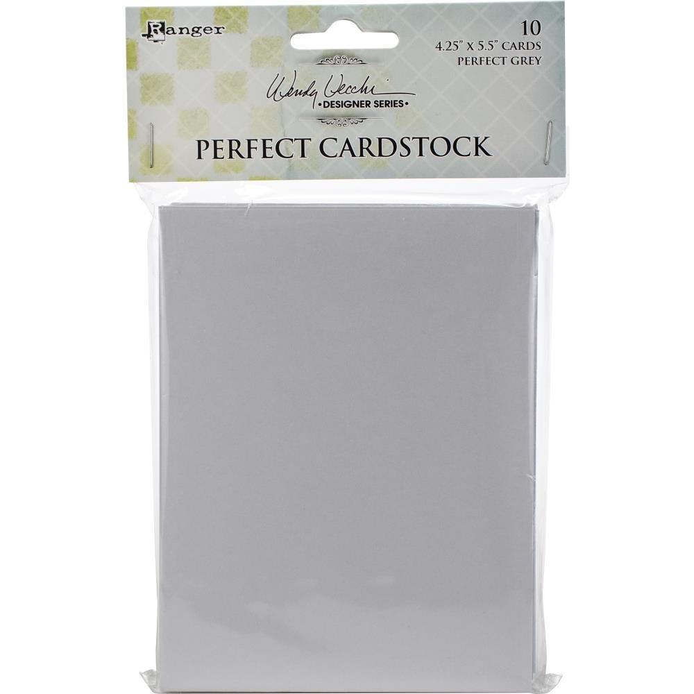 Wendy Vecchi - Ranger Perfect cardstock Grey 4.25x5.5 cards 10pc