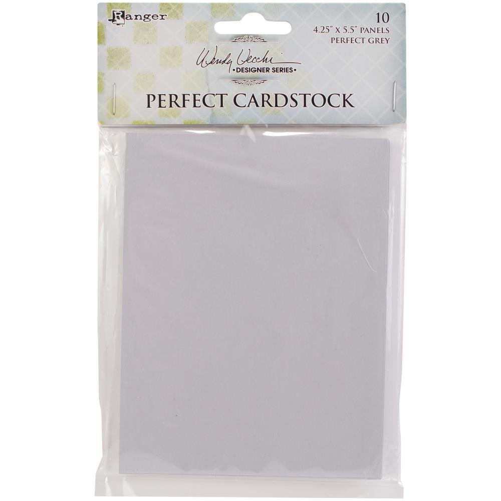 Wendy Vecchi - Ranger Perfect cardstock Grey 4.25x5.5 panels 10pc
