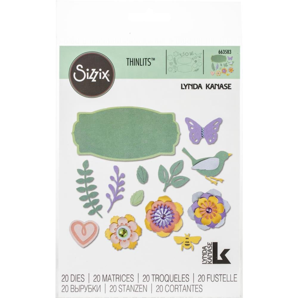 Sizzix Thinlits By Lynda Kanase Spring Things 20 dies