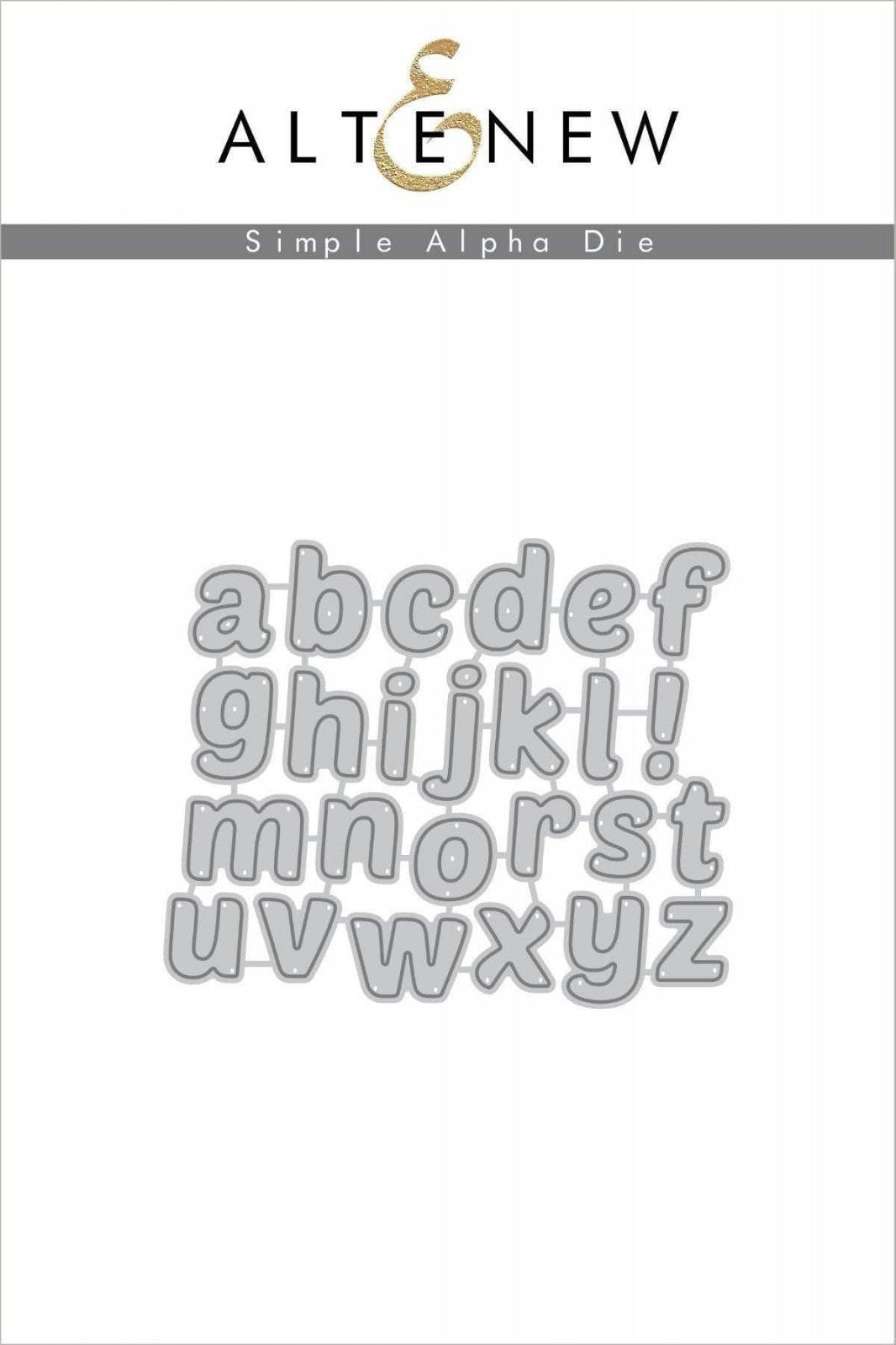 Altenew Simple Alpha Die Set