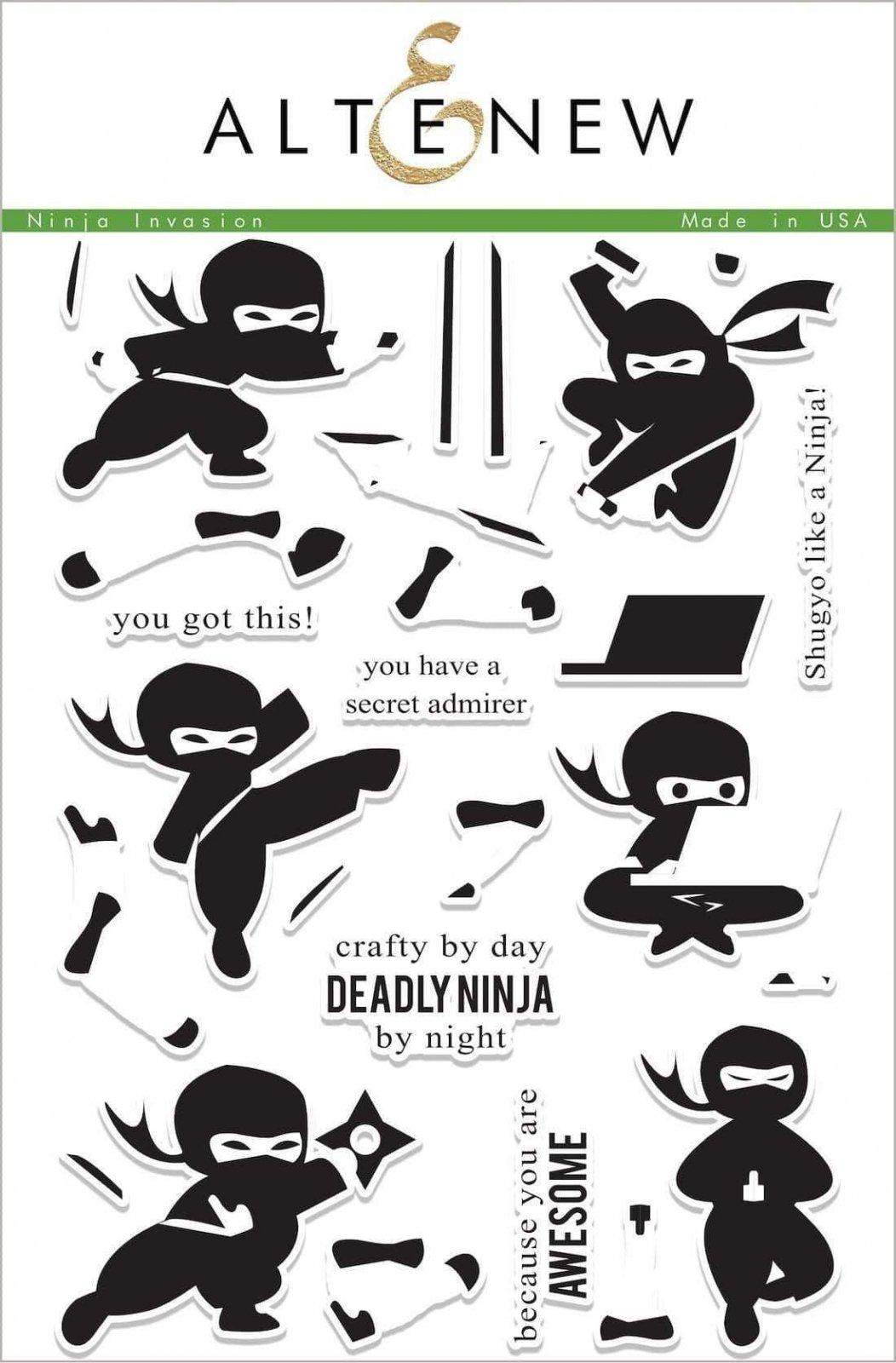 Altenew Ninja Invasion Stamp Set