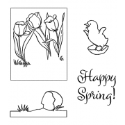 Art gone wild Spring chick Clear stamp set