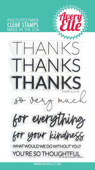 Avery Elle Thanks Thanks Stamp Set