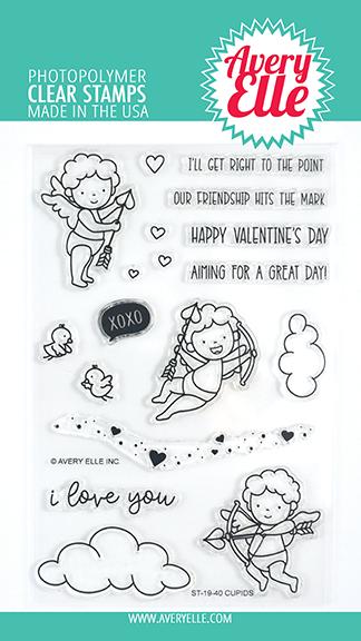 Avery Elle Cupids Stamp Set