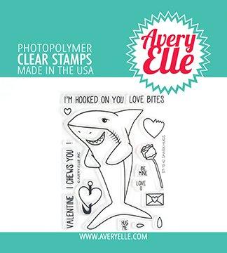 Avery Elle Shark Hugs Stamp