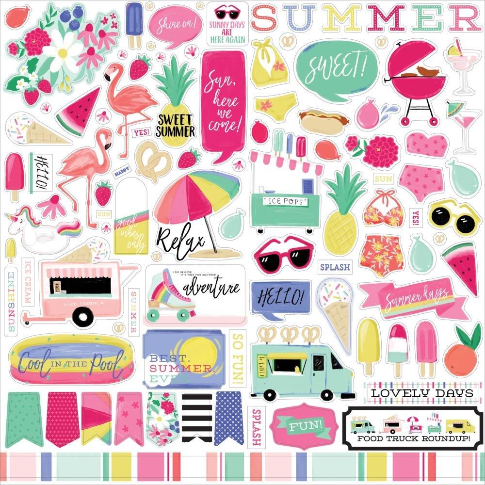 Echo Park Best Summer Ever Sticker sheet