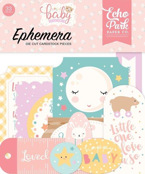 Hello Baby Girl Ephemera