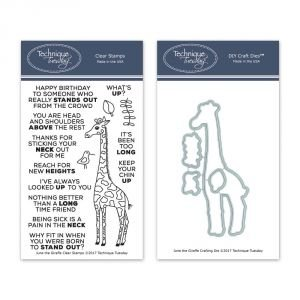 Technique Tuesday June the Giraffe stamp and die set