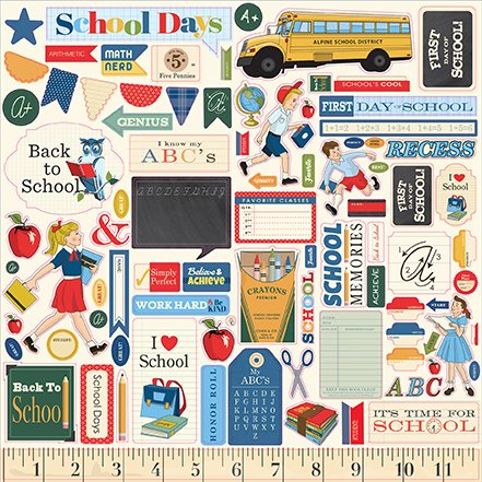 Carta Bella School Days Sticker Sheet