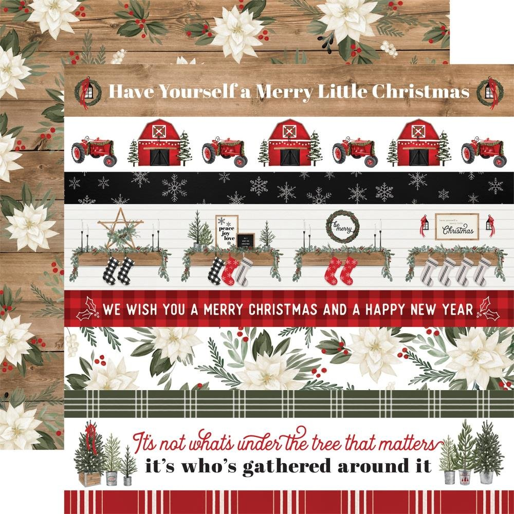 Carta Bella Farmhouse Christmas 12x12 Border Stips