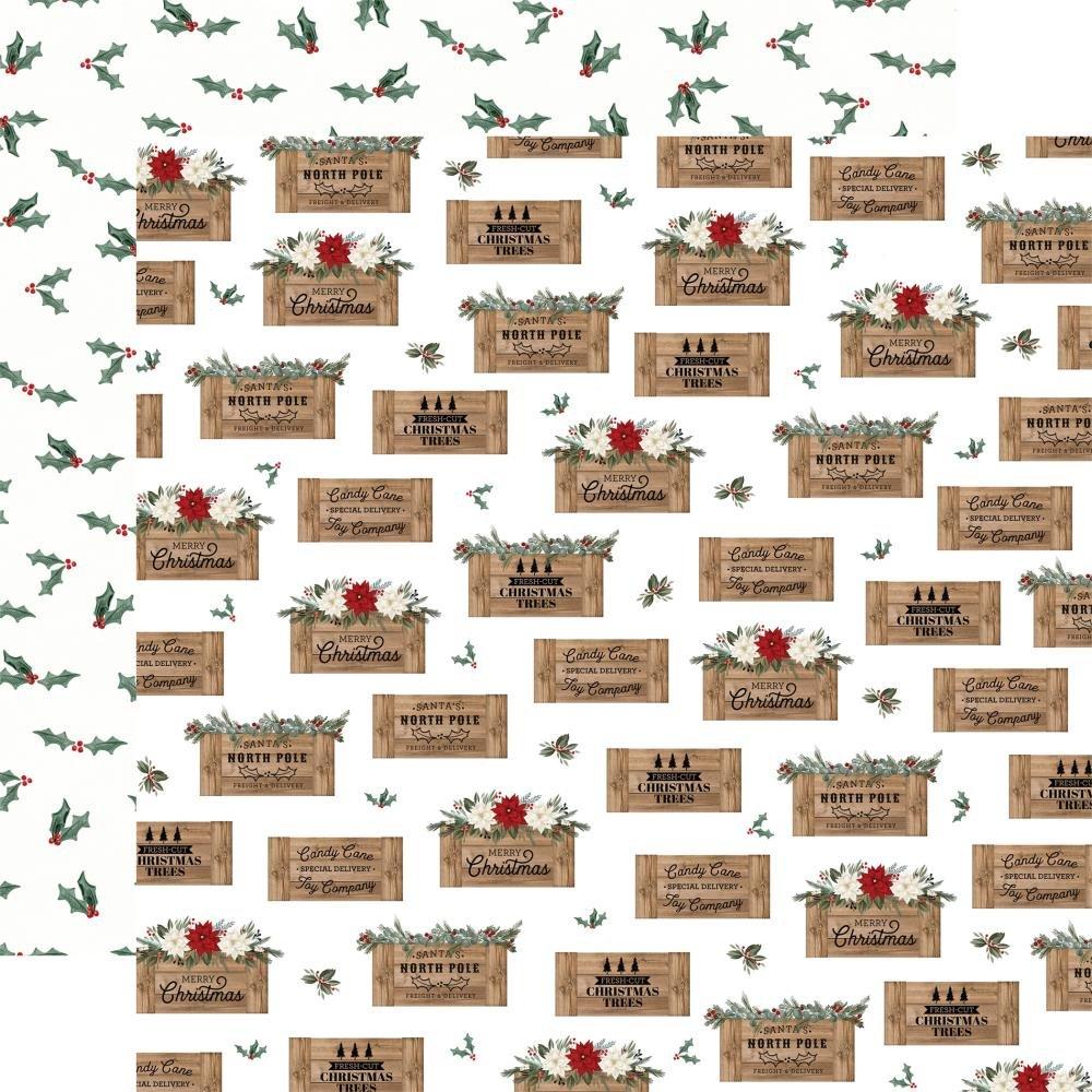 Carta Bella Farmhouse Christmas 12x12 Crates