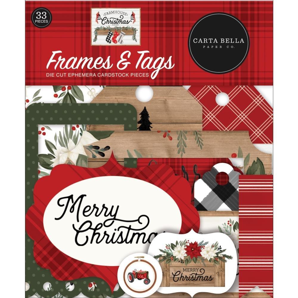 Carta Bella Farmhouse Christmas Frames & Tags