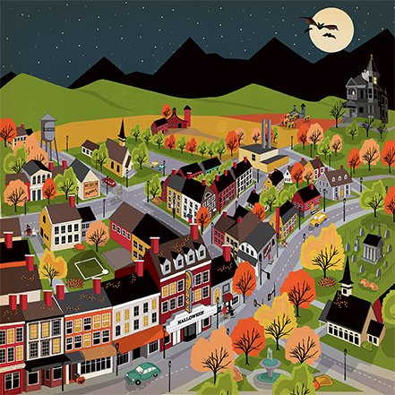 Carta Bella Happy Halloween Halloween town 2 sided 12x12