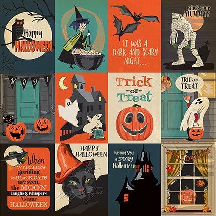 Carta Bella Happy Halloween 3x4 journaling cards 2 sided 12x12