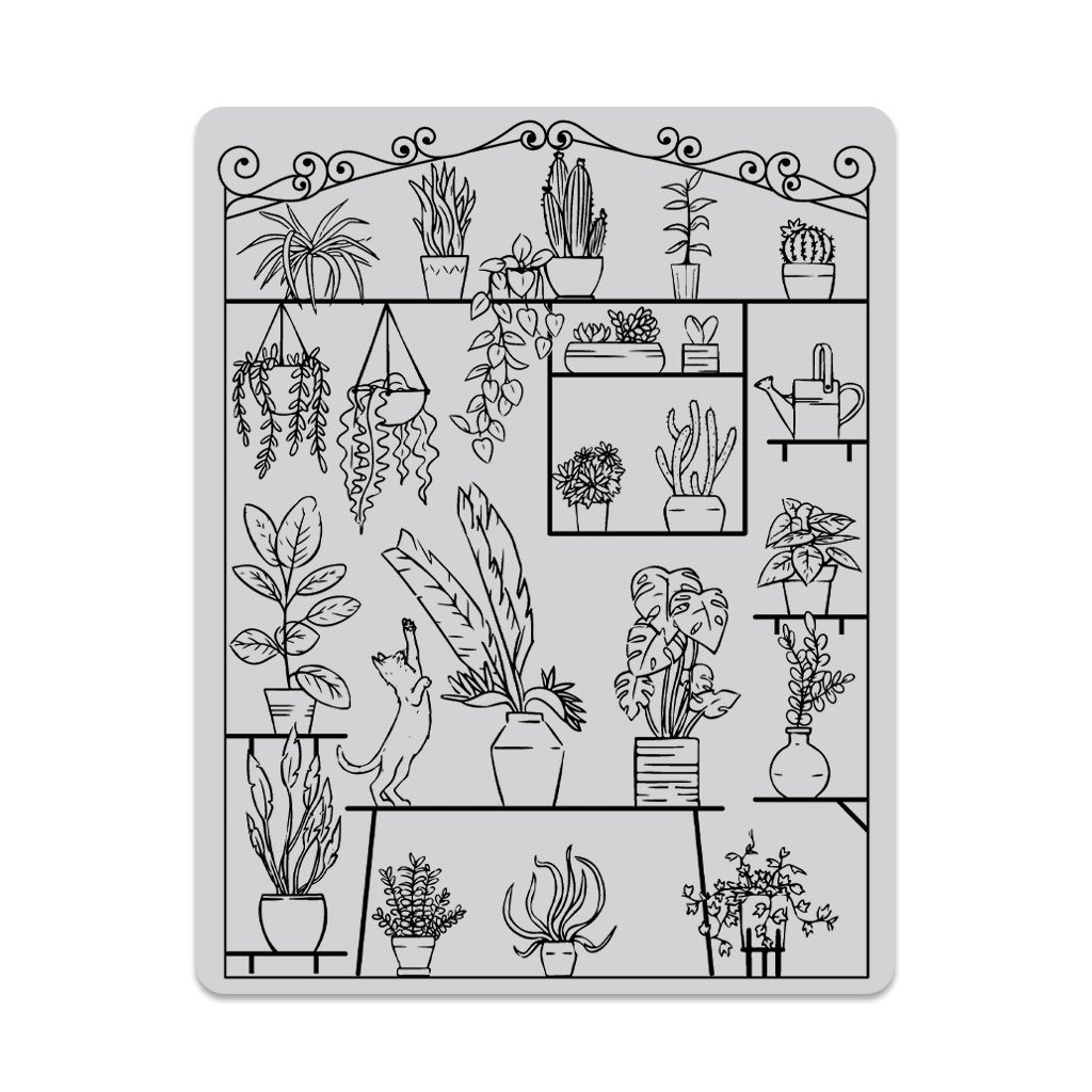 Hero Art Greenhouse Peek-A-Boo Cling Stamp