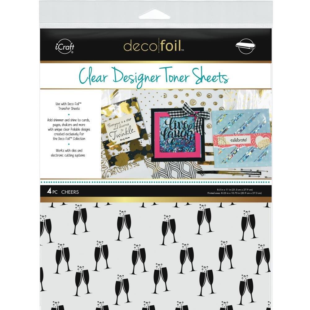 Deco Foil Clear Designer Toner Sheets Cheers