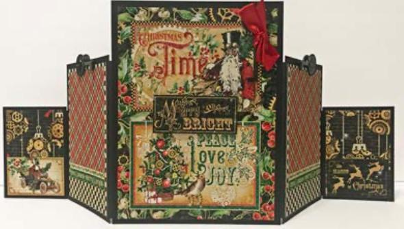 Graphic 45 Christmas Time Accordion Album