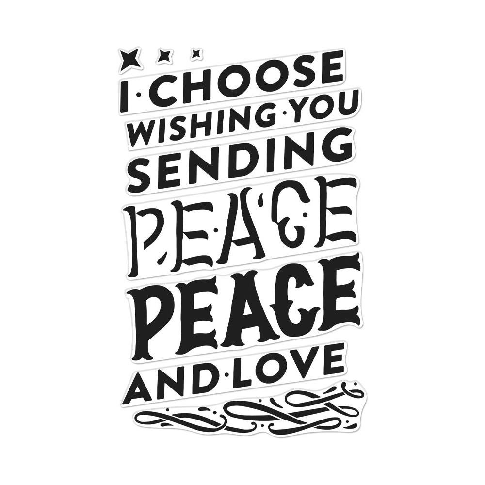 Hero Arts Clear stamp set Color layering Peace 10pc