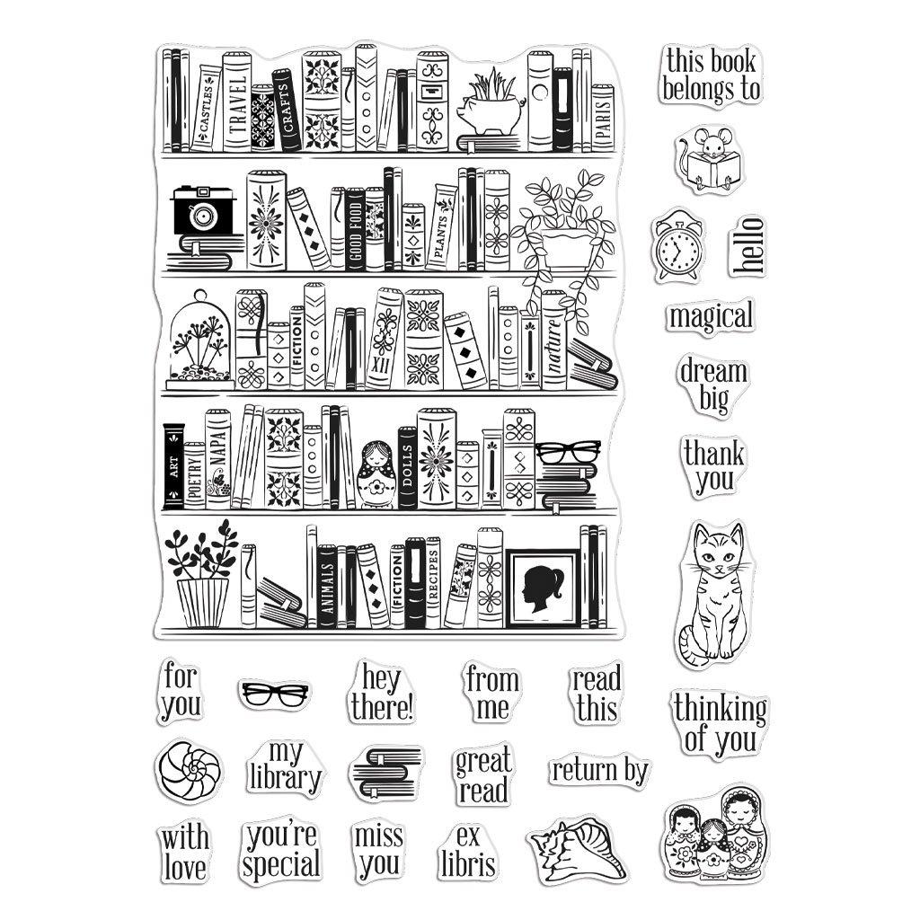 Hero Arts Bookcase Peek-A-Boo Parts Stamp Set