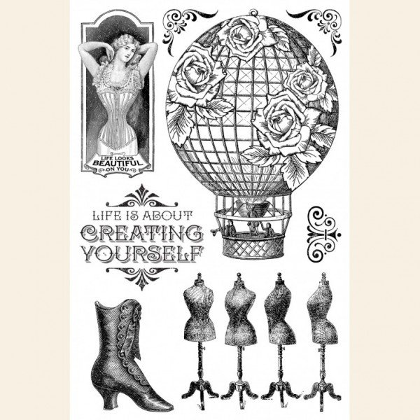 Graphic 45 Create Yourself Acrylic Stamps