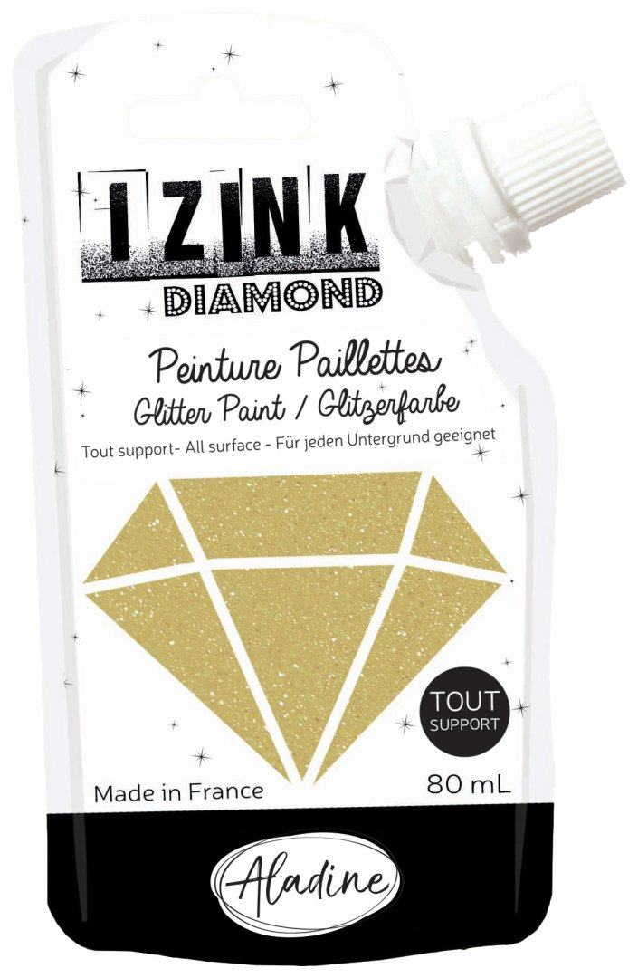 Izink  Diamond Glitter Paint  Gold