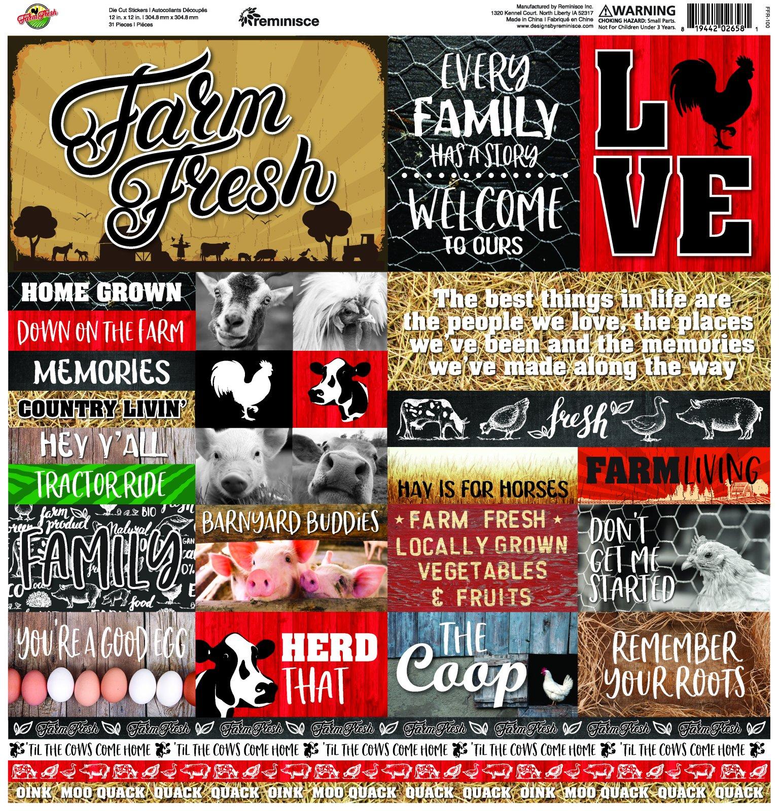 Farm Fresh Die Cut Stickers