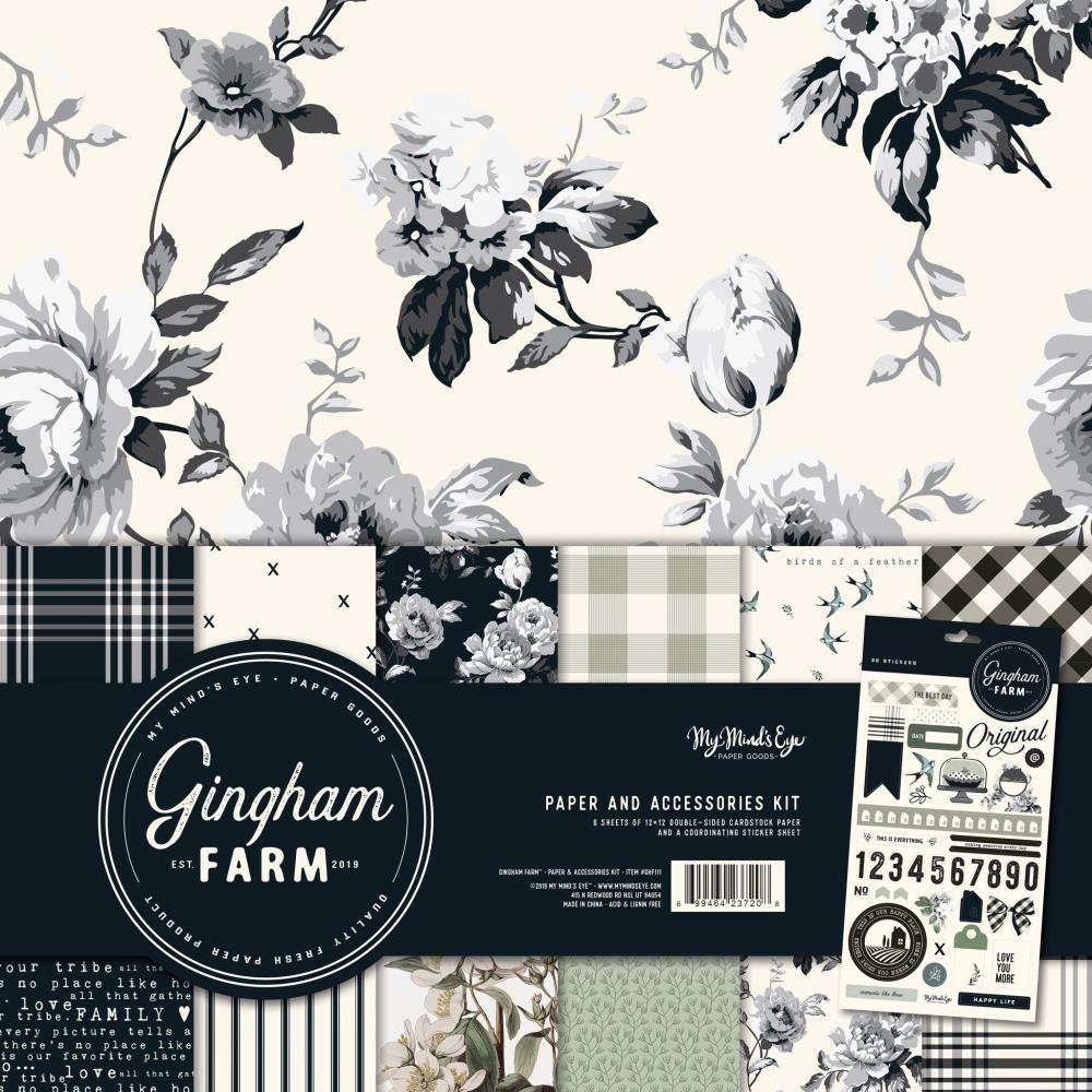 My Mind's Eye Gingham Farm Paper & Accessories Kit