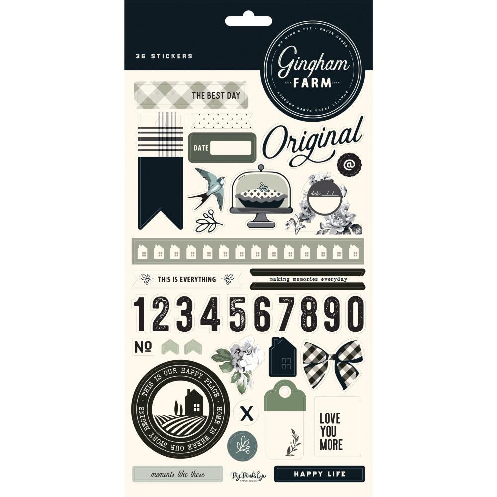 My Mind's Eye Gingham Farm Stickers