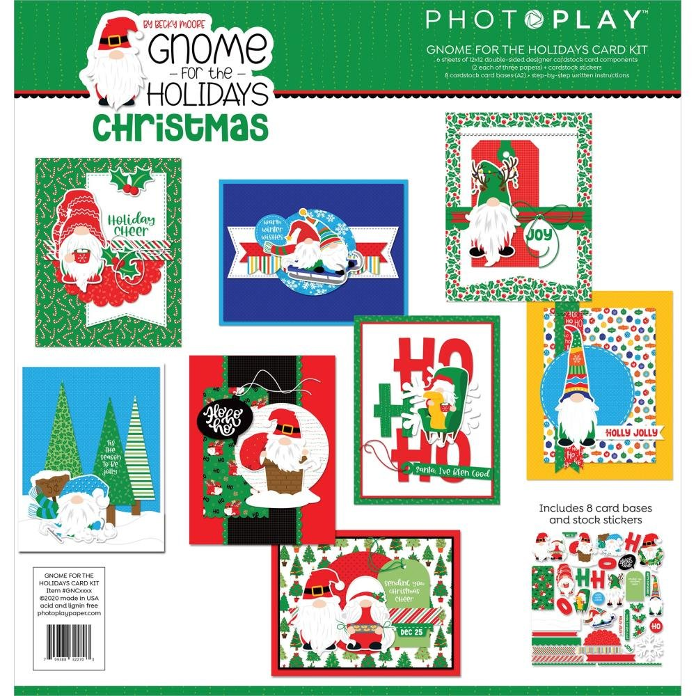 Photoplay Gnome For The Holidays Card Kit