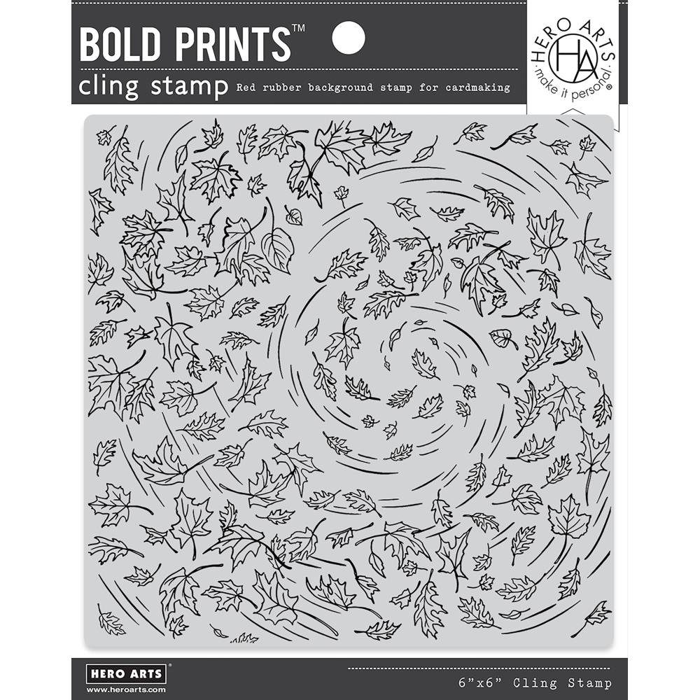 Hero Arts Cling Stamp Leaves in the Wind Bold Prints, 6x6
