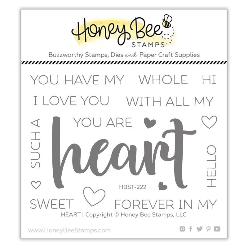 Honey Bee Heart Stamp Set