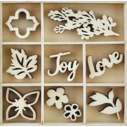 Kaisercraft Wooden Flourish Pack Garden