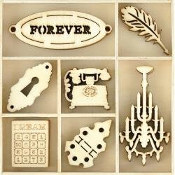 Kaisercraft Wooden Flourish Pack Trinkets