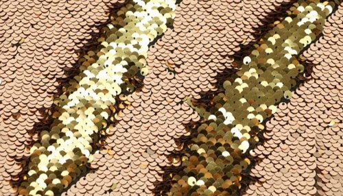 Inky Antics Reversible Sequin Fabric Champagne to Gold
