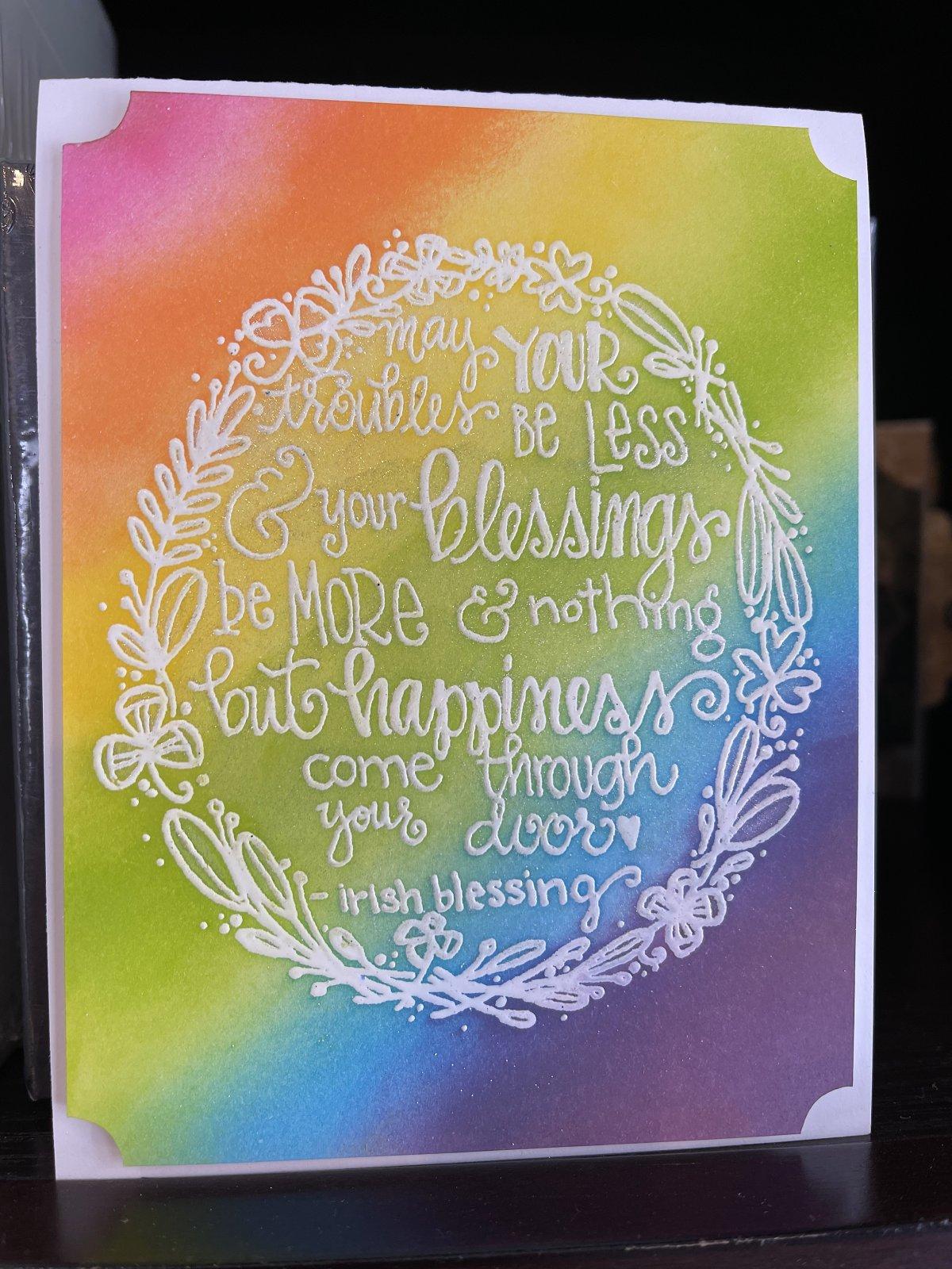 Rainbows and Shamrocks Card Kit