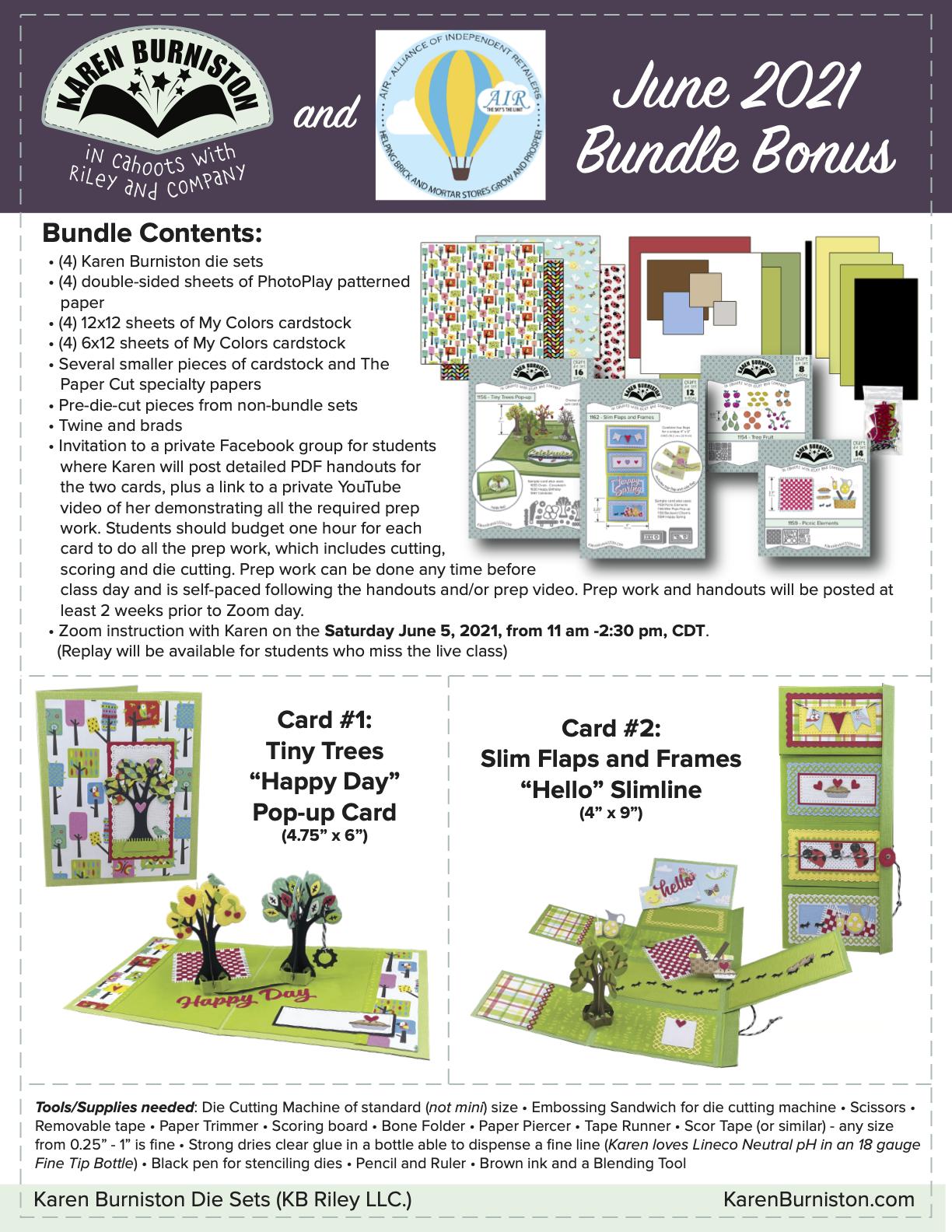 Karen Burniston June Kit Bundle