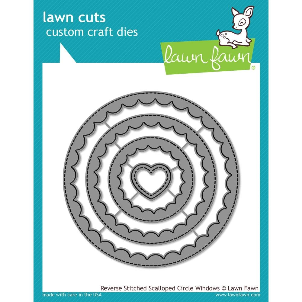 Lawn Fawn Reverse Stitched Scalloped Circle Window Dies