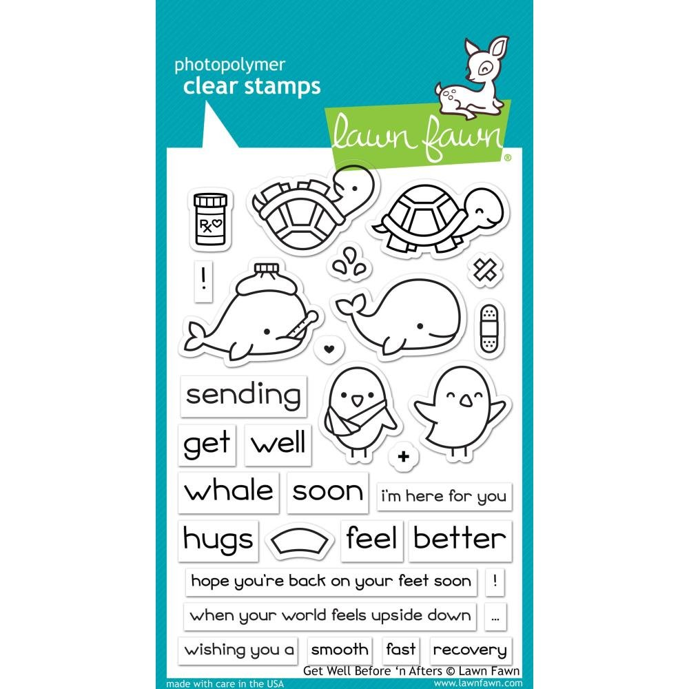 Lawn Fawn Get Well Before and After Stamp Set