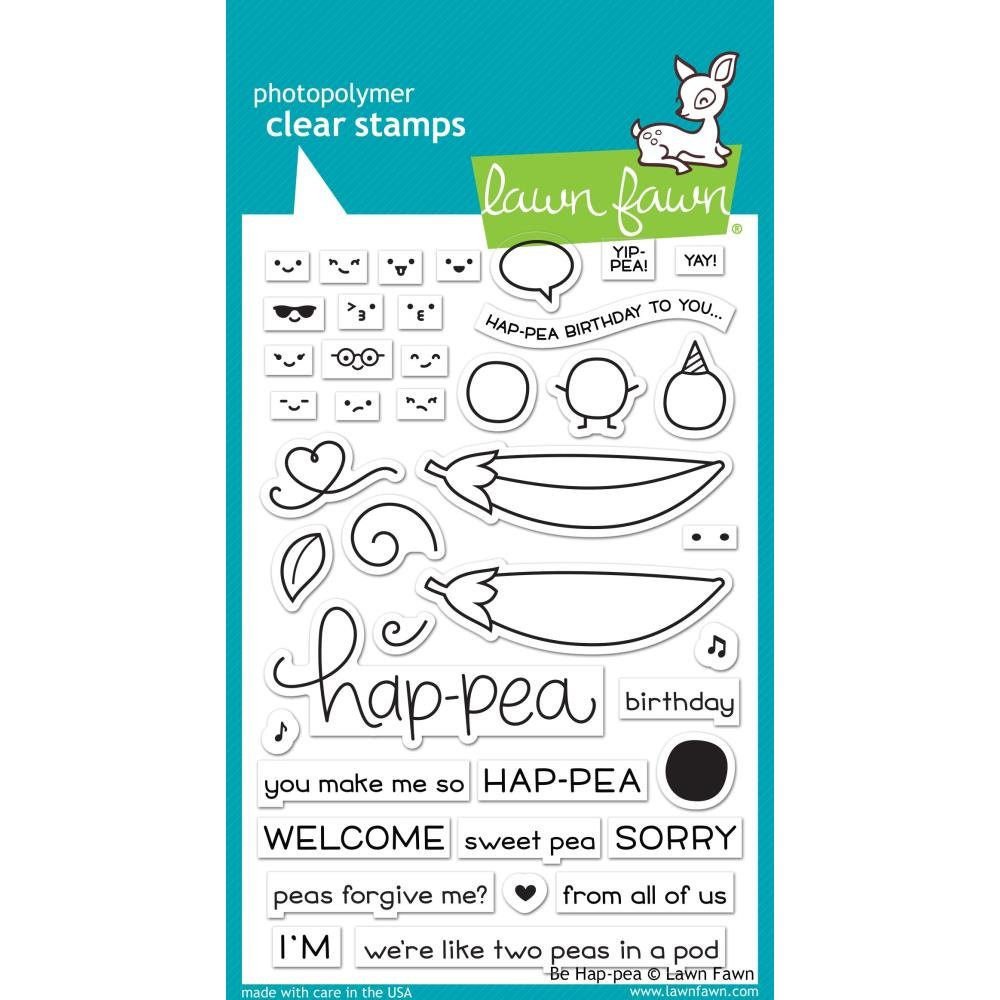 Lawn Fawn Be Hap-pea Stamp Set