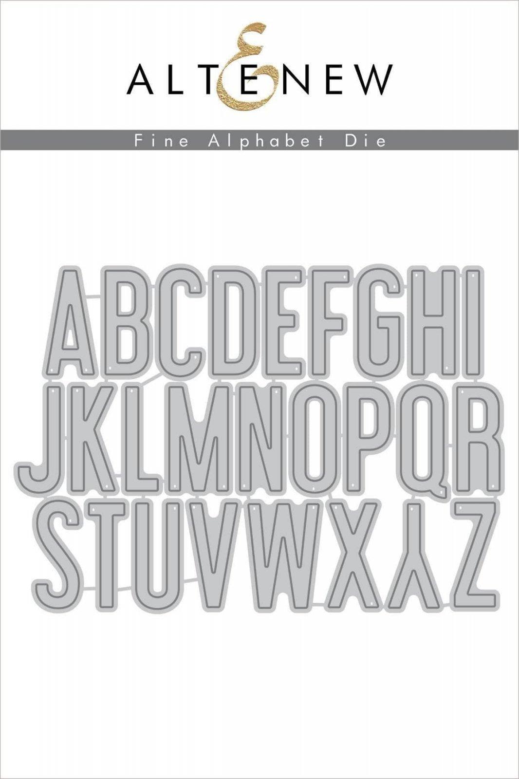 Altenew Fine Alphabet Die Set