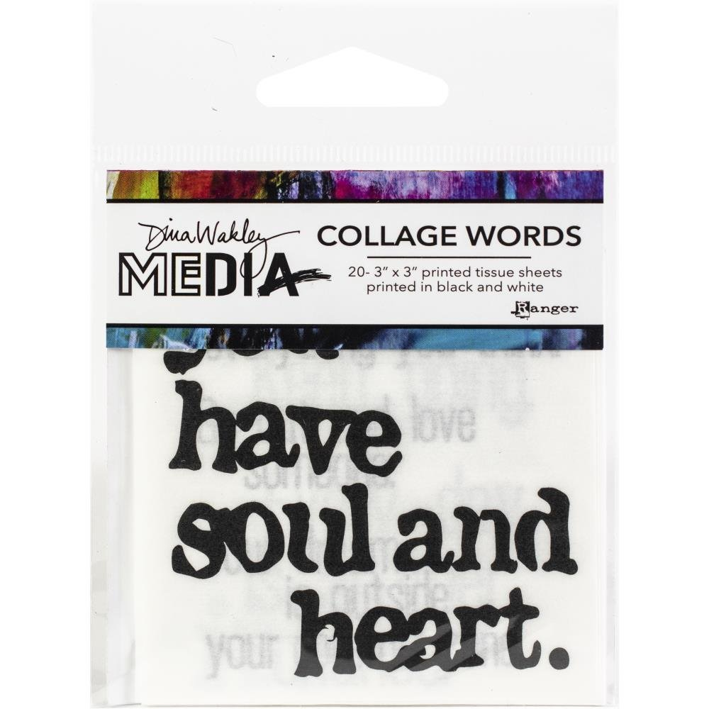 Ranger Collage Words Printed Tissue 'Have Soul and Heart'