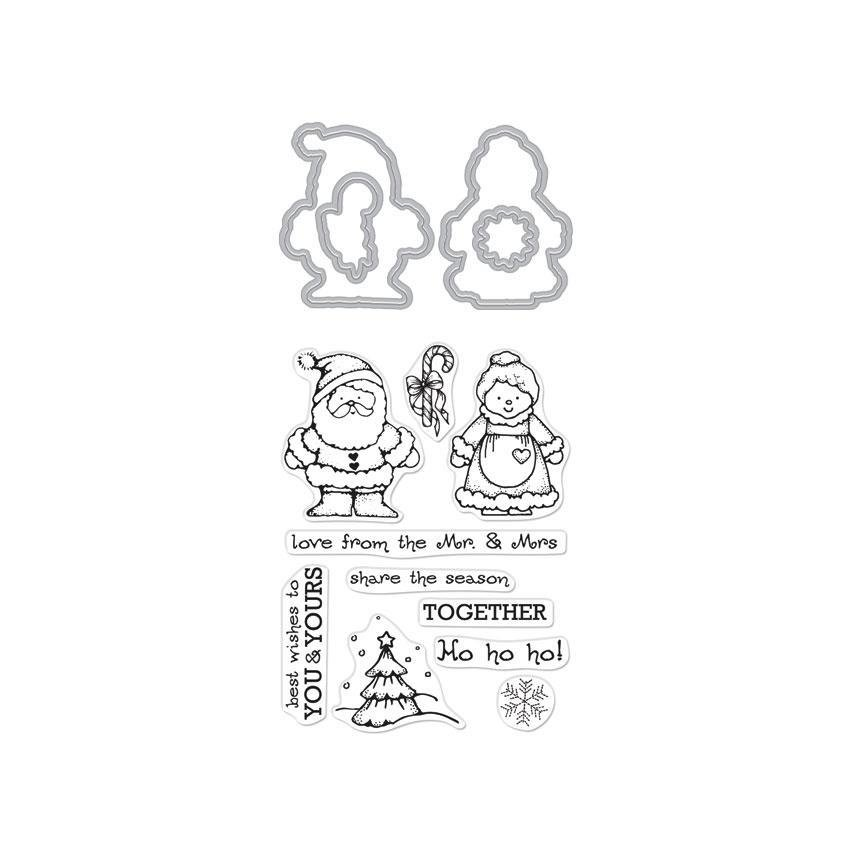 Hero Arts Stamp and Cut Mr. & Mrs. Claus