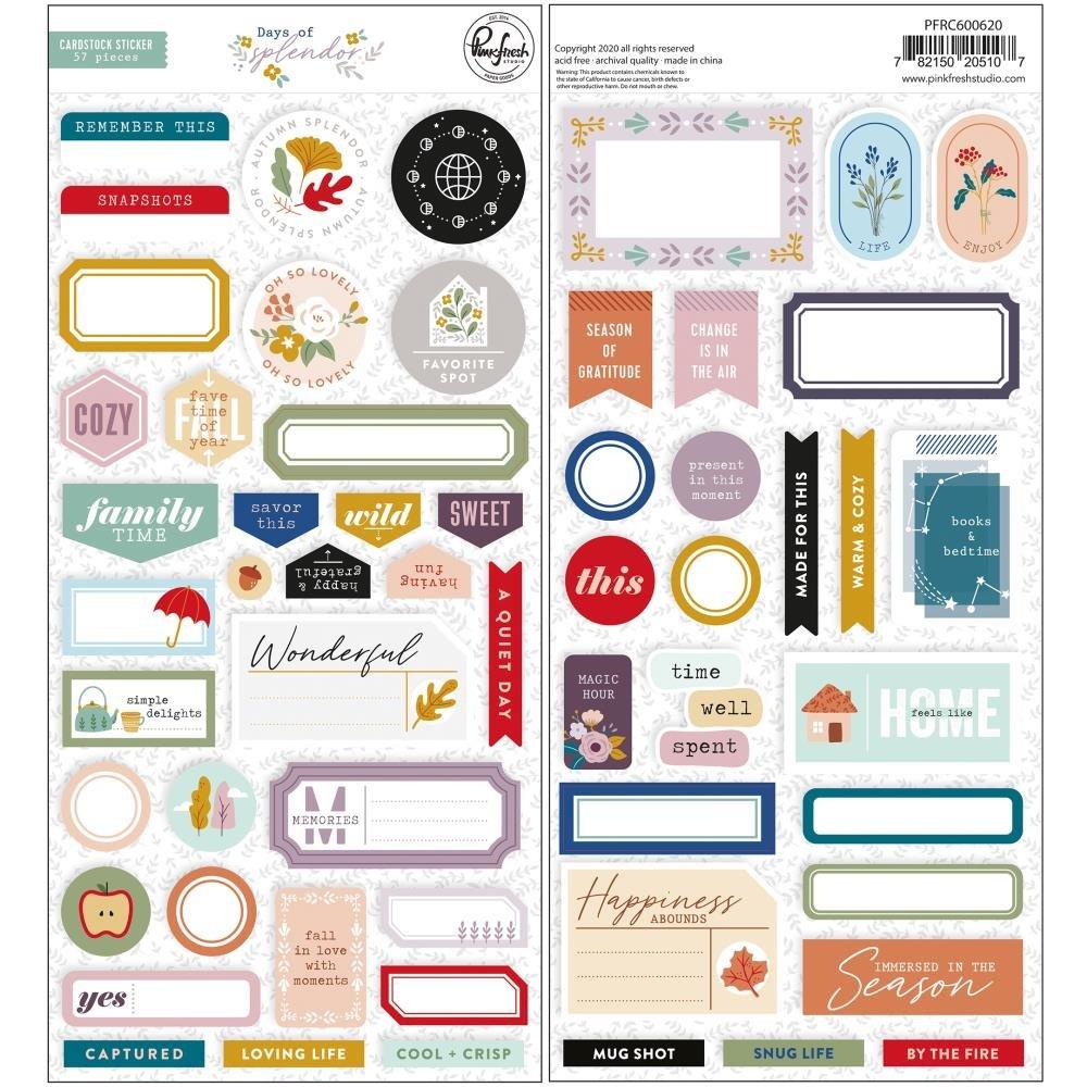 Pink Fresh Days Of Splendor Cardstock Stickers