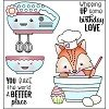 Darcie Bake the world CLEAR stamp set