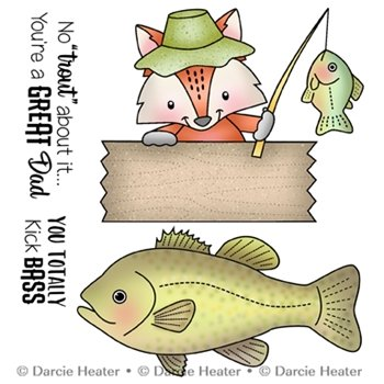 No trout about it Clear stamp set 4pcs Darcie's heart & home