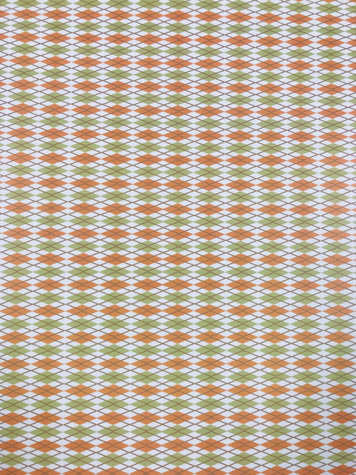 Argyle green one sided 8.5x11 cardstock