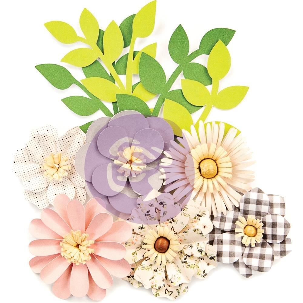 Prima Marketing Spring Farmhouse Paper Flowers 10/Pkg